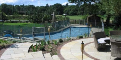 Pool with Fencing